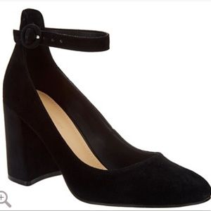Marc Fisher Suede Pumps with Ankle Straps